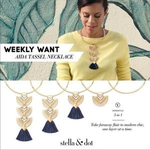 New Stella Dot Aida Tassel Pendant Versatel 5ways